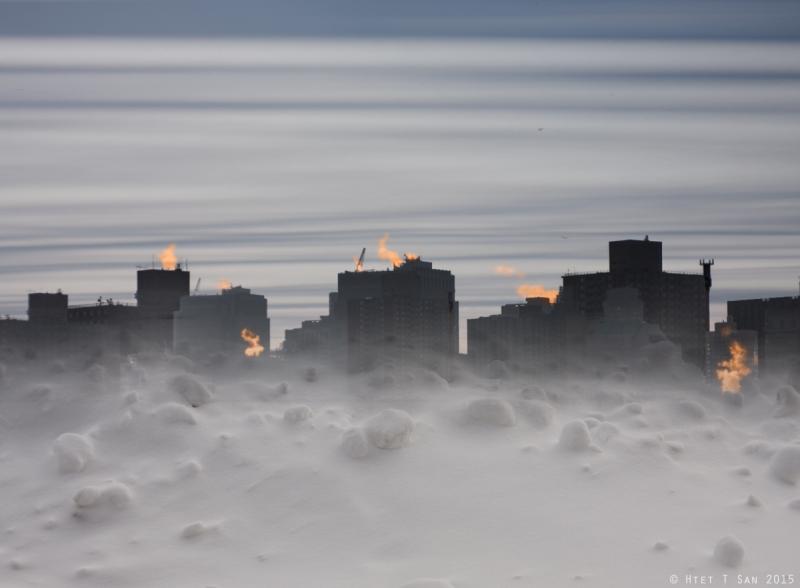 Blue City, Orange Smoke _Htet T San